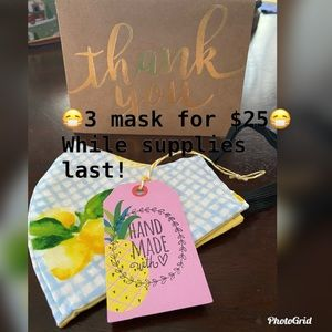 Accessories - 😷 3 mask for $25. 😷